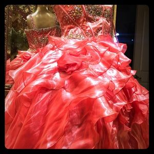 Tiffany Designs Quinceanera Dress 16 Coral